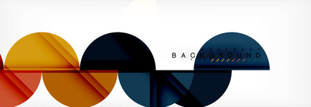 Circle modern geometrical abstract background, vector illustration