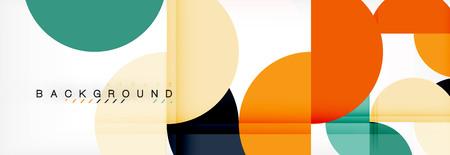 Círculo de fondo abstracto geométrico moderno, ilustración vectorial