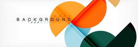 Abstrakter Hintergrund des Halbkreises, modernes geometrisches Musterdesign. Designvorlage für Geschäfts- oder Technologiepräsentationen, Broschüre oder Flyermuster oder geometrisches Webbanner