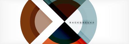 Vector circular geometric abstract background. Trendy illustration Illustration
