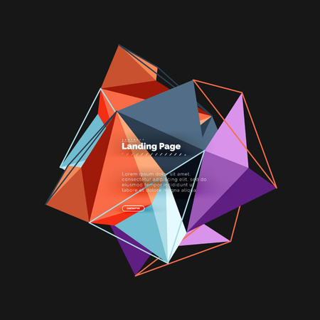 Polygonal geometric design, abstract shape made of triangles, trendy background