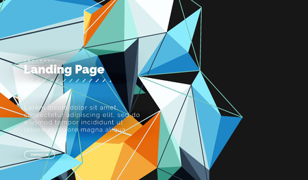 Polygonal geometric design, abstract shape made of triangles, trendy background 免版税图像 - 106689644