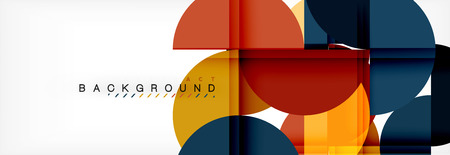 Circle modern geometrical abstract background illustration