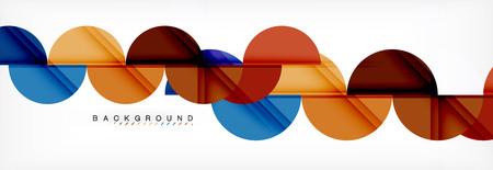 Abstrakter Hintergrund des Halbkreises, modernes geometrisches Musterdesign. Designvorlage für Vektorgeschäft oder Technologiepräsentation, Broschüre oder Flyermuster oder geometrisches Webbanner