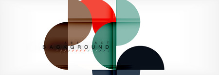 Circle abstract background, geometric illustration Çizim