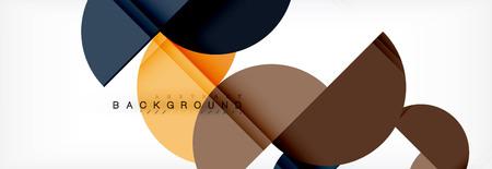 Moderner geometrischer abstrakter Hintergrund - Kreise. Designvorlage für Geschäfts- oder Technologiepräsentationen, Broschüre oder Flyermuster oder geometrisches Vektor-Webbanner Vektorgrafik