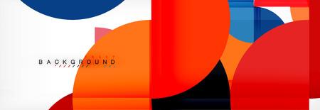 Fondo abstracto semicírculo, diseño de patrón geométrico moderno. Plantilla de diseño de presentación de negocios o tecnología de vector, patrón de folleto o volante, o banner web geométrico