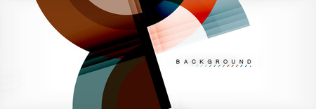 Vector circular geometric abstract background. Trendy illustration Çizim
