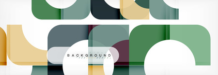 Color square shapes, geometric modern abstract background. Vector illustration Illustration
