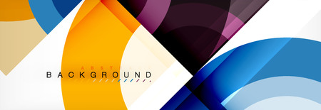 Vector circular abstract background, circles geometric shapes Vettoriali