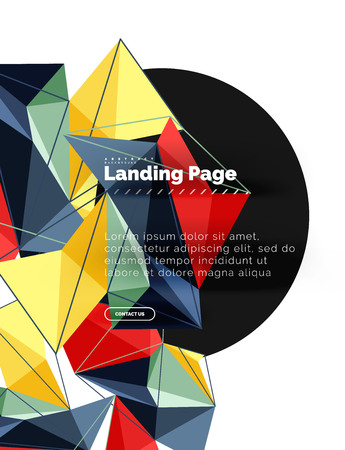 Vector 3d triangle abstract background, polygonal geometric design