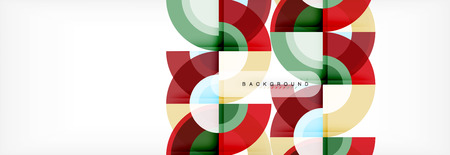 Vector circular abstract background, circles geometric shapes  イラスト・ベクター素材