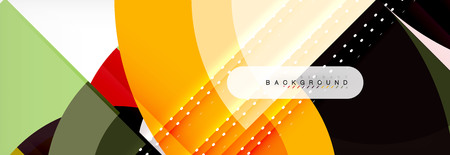 Vector circle abstract background, geometric design