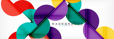 Modern geometrical abstract background - circles. Business or technology presentation design template, brochure or flyer pattern, or geometric vector web banner Vettoriali