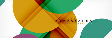 Circle abstract background, geometric vector illustration