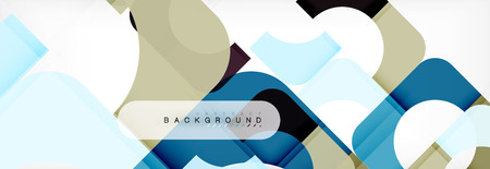 Geometric squares abstract banner. Vector template illustration for business brochure or flyer, presentation and web design layout