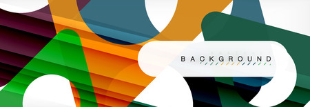 Geometric background, circles and triangles shapes banner. Illustration for business brochure or flyer, presentation and web design layout Illustration