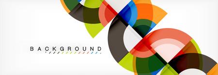 Vector circle abstract background, geometric design Ilustração Vetorial