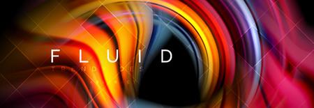 Concepto de movimiento de color brillante que fluye, plantilla de diseño abstracto de moda para presentación de negocios o tecnología o portada de folleto web, papel tapiz. Ilustración vectorial