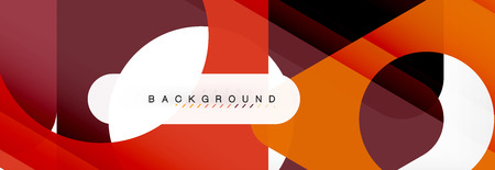 Geometric background, circles and triangles shapes banner. Illustration for business brochure or flyer, presentation and web design layout Ilustrace