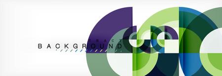 Vektorkreis abstrakter Hintergrund