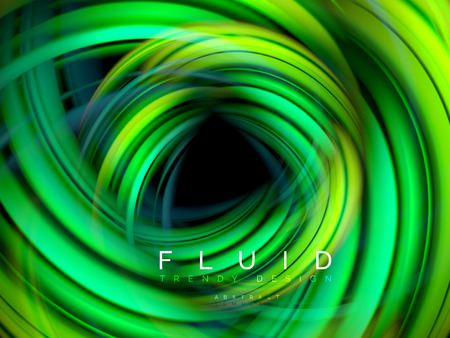 Fluid smooth wave abstract background, flowing glowing color motion concept, trendy abstract layout template for business or technology presentation or web brochure cover, wallpaper. Vector illustration