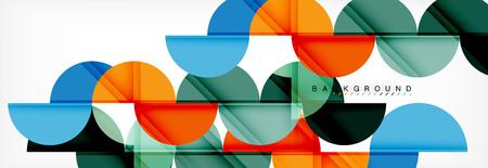 Kreisen Sie modernen geometrischen abstrakten Hintergrund, Vektorillustration ein