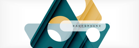 Geometric background, circles and triangles shapes banner. Vector illustration for business brochure or flyer, presentation and web design layout Illustration
