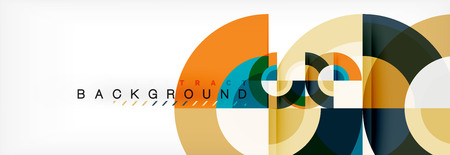 Vector circular abstract background, circles geometric shapes 일러스트
