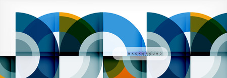 Vector circular abstract background Illustration