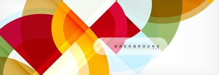 Vektorkreisförmiger geometrischer abstrakter Hintergrund, Schablonendesign Vektorgrafik