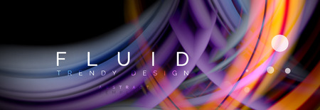 Flowing glowing color motion concept, trendy abstract layout template for business or technology presentation or web brochure cover, wallpaper. Vector illustration