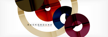 Geomtric modern backgrounds, rings abstract template, vector illustration 版權商用圖片 - 107660709