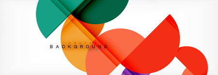Circle abstract background, geometric illustration 向量圖像