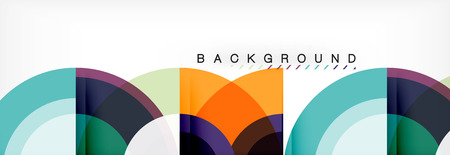 Vector circular abstract background Illustration