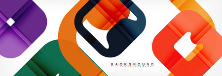 Square geometric background, multicolored template for business or technology presentation or web brochure cover layout, vector wallpaper. Illustration