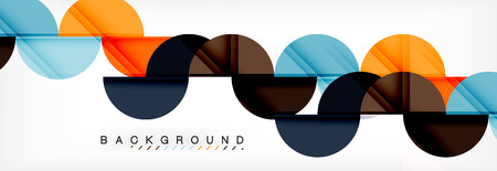Circle abstract background, geometric illustration Illustration