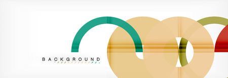 Geomtric modern backgrounds, rings abstract template, vector illustration Banque d'images - 110265079