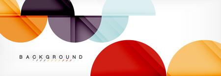 Abstrakter Hintergrund des Halbkreises, modernes geometrisches Musterdesign. Designvorlage für Vektorgeschäft oder Technologiepräsentation, Broschüre oder Flyermuster oder geometrisches Webbanner Vektorgrafik
