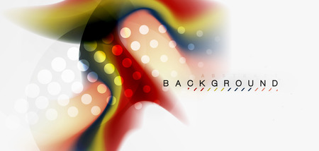 Fluid flowing wave abstract background, vector techno design Foto de archivo - 110245165