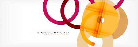 Geomtric modern backgrounds, rings abstract template, vector illustration Banque d'images - 110245301