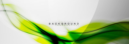 Smooth blur wave background, color flow concept on grey, vector illustration