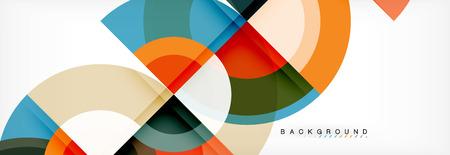 Vector circular abstract background, circles geometric shapes Illustration