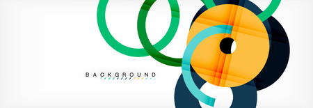 Geomtric modern backgrounds, rings abstract template, vector illustration Banque d'images - 110182972