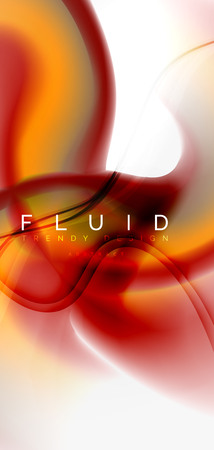 Mixing liquid color flow abstract background. Trendy abstract layout template for business or technology presentation, internet poster or web brochure cover, wallpaper. Vector illustration Standard-Bild - 110183015