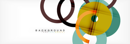 Geomtric modern backgrounds, rings abstract template, vector illustration Banque d'images - 110161454