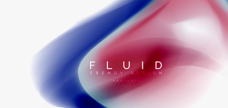 Mixing liquid color flow abstract background. Trendy abstract layout template for business or technology presentation, internet poster or web brochure cover, wallpaper. Vector illustration