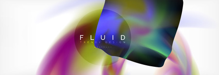 Abstract background holographic liquid colors design, vector wave template Reklamní fotografie - 110163346