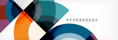 Vector circular geometric abstract background, template design Vecteurs