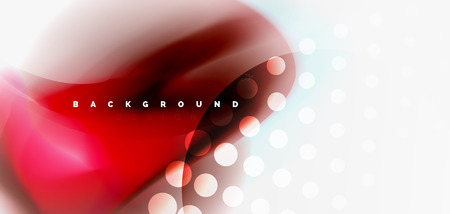 Fluid flowing wave abstract background, vector techno design